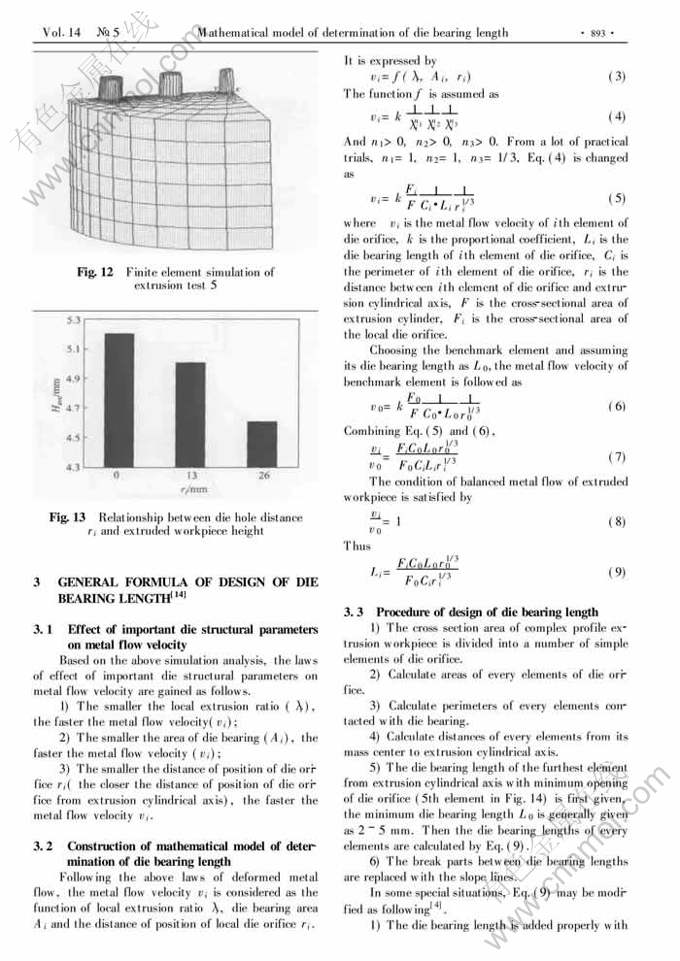 hole extrusion formula